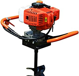 52CC 2-Stroke Gas Powered Auger Digger Post Hole Borer Ground Drill+4