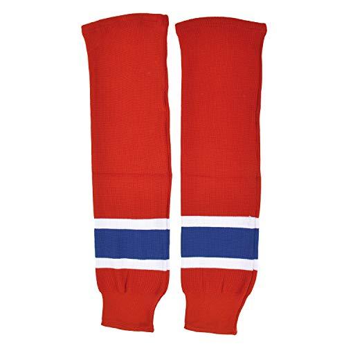 Sherwood - Calzettoni da Hockey su Ghiaccio per Bambini, Modello Montreal, Colore: Rosso/Bianco/Blu