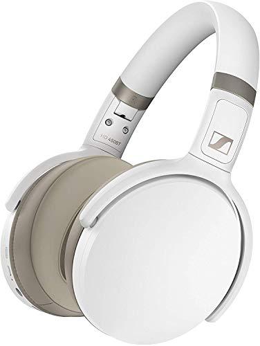 Sennheiser HD 450BT Kabelloser Kopfhörer mit aktiver Geräuschunterdrückung, Weiß