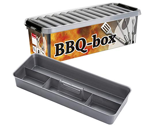 Q-line BBQ opbergbox - 9,5L - Incl. inzet met vakverdeling