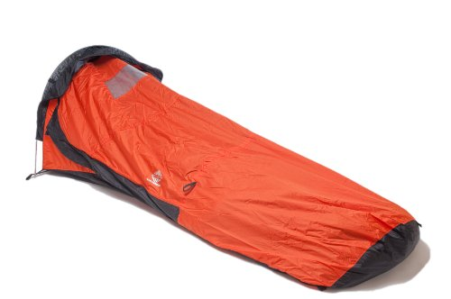 Aqua Quest Hooped Orange Bivvy Single-Pole Tent Waterproof with Mosquito Bug Net Mesh for Hunting, Hiking, Camping