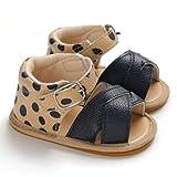 siyova scarpe neonata sandali scarpe primi passi moda tinta unita paillettes traspirante antiscivolo principessa bambina scarpine da passeggio bimba (blu, 0-6 mesi)