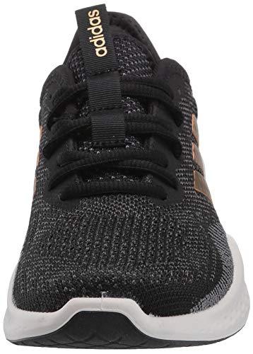 adidas Women's Fluidflow Running Shoe, core Black/Tactile Gold Met./Grey Six, 7.5 M US 8