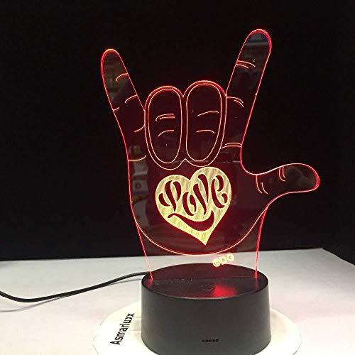 3D nachtlampje 3D nachtlampje nachtlampje driedimensionale diashow Ik hou van je schat hart ballon romantische decoratie vriendin Moederdag kerstcadeau