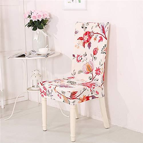 PCSACDF bloemblaadjes druk spandex elastische stoel beschermhoes stretch eetkamerstoel stoelbekleding voor banket party universal 24