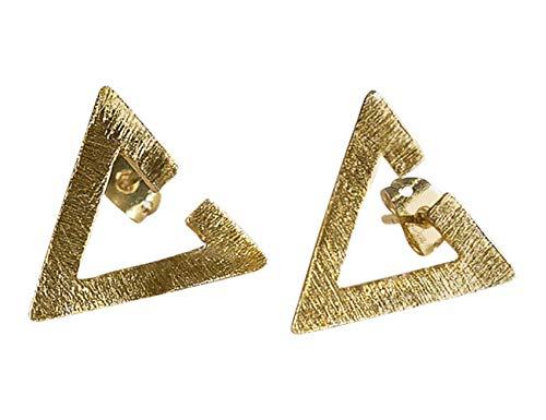 Pendientes Triangulo Oro para Mujer - Pendientes de Diseño Geométrico Abiertos