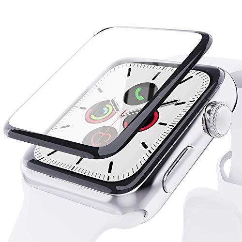 Protector de pantalla para Apple Watch Serie 3/2/1 de 42 mm [Paquete de 2] Protector de pantalla de vidrio templado [Cobertura máxima] [Casa] para iWatch de 42 mm
