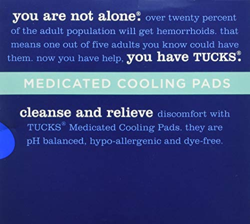 TUCKS Medicated Cooling Pads 100 Each