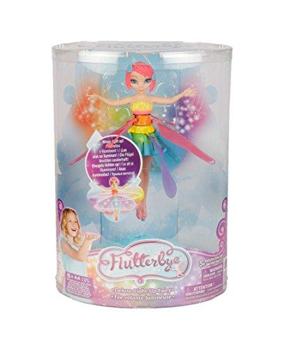 Flutterbye- Flying Fariry-Light Up Rainbow Principessa Volante, 6023923
