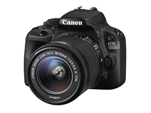 Canon EOS 100D - Cámara Digital de 18 MP (Pantalla táctil de 3in, Zoom óptico 3X), Color Negro - Kit con Objetivo EF-S 18-55mm (Reacondicionado)