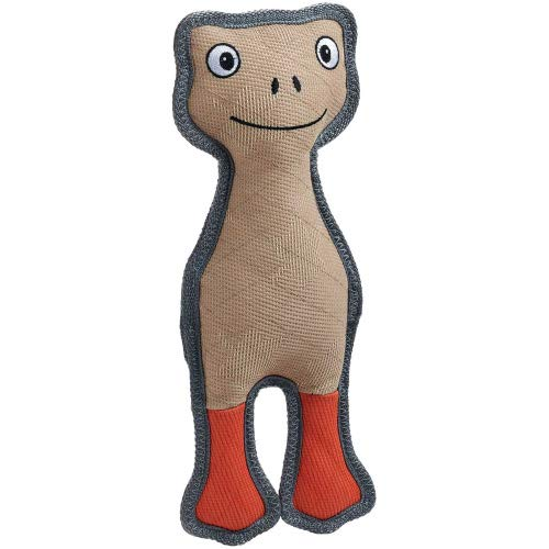 HUNTER Tough POMBAS Hundespielzeug, mit Squeaker, 33 cm, Frosch