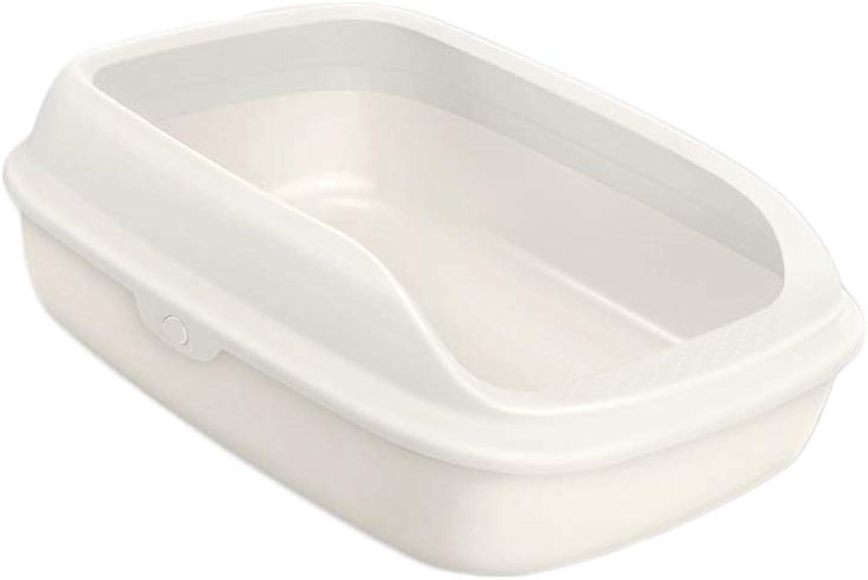 Cat Litter Bowl AntiSplashing SemiClosed Cat Sand Cat Toilet Cat Supplies Deodorant Supplies (color   White)