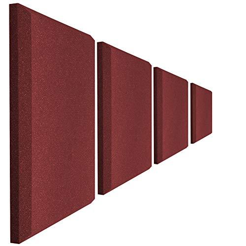 Acoustic Panels Studio Foam Sound Proof Panels Noise Dampening Foam Studio Music Equipment Acoustical Treatments Foam 4 Pcs-12''12''2''-Chamfer
