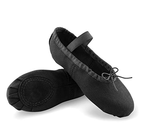Arabesque Cinderella - Zapatillas de Ballet para niños y Adultos, Negro, 37 EU