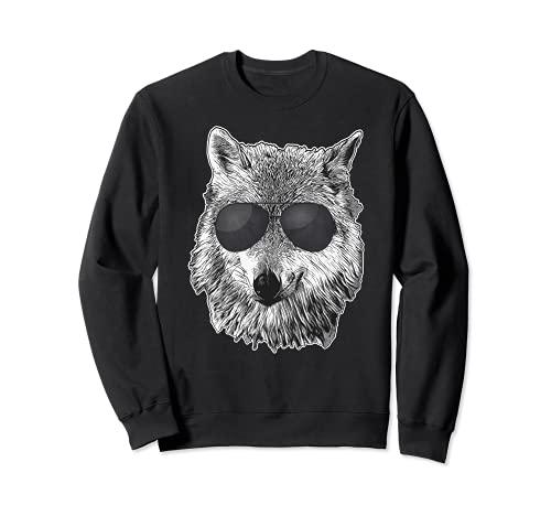 Wolf Boss - Gafas de sol negras - Tema de lobos Sudadera