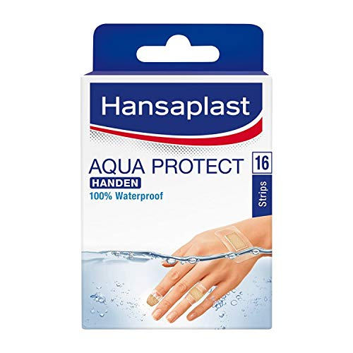 2 x Hansaplast Pflaster Aqua Protect Hände - 16 Streifen