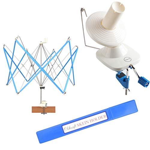 Yarn Ball Winder and Umbrella Swift (with Skein Holder) Basic Combo Set