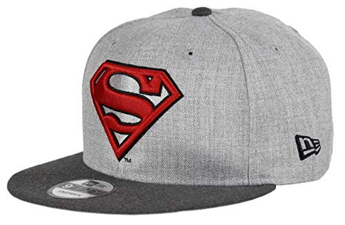 New Era Superman 9fifty Snapback Cap Comic Graphite Heather Graphite - One-Size
