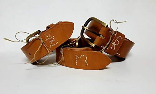 Cinturón Artesanal Personalizado. Cinturón Cuero, Marrón ...