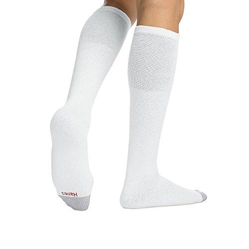 Mens Hanes 6 Pair Over-the-Calf Tube Socks - 180/6 White 10 - 15 -  1806WH