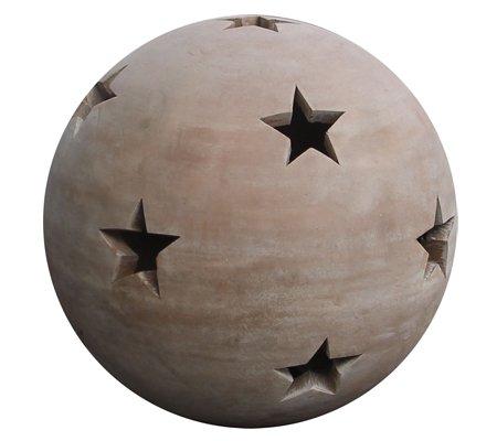 Dehner Windlicht Sternenkugel, Ø 30 cm, Terrakotta