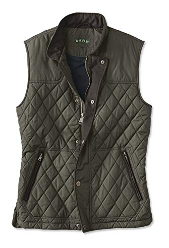 Orvis Men's Rt7 Quilted Vest, Olive, Large