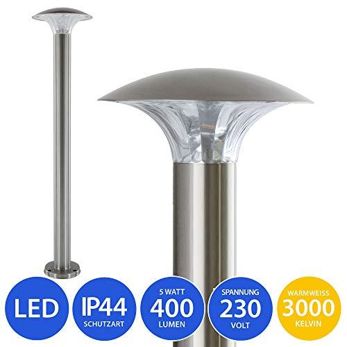 LED Standleuchte 5 Watt Pollerleuchte Aussenleuchte Standlampe Gartenleuchte Wegeleuchte Edelstahl 80 cm Model 451