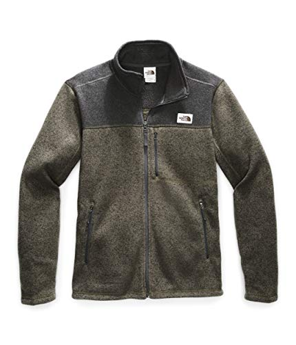 The North Face Men's Gordon Lyons Full Zip Fleece Jacket, New Taupe Green Heather/TNF Dark Grey Heather, Large