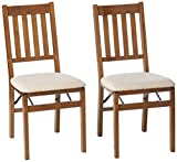 Stakmore - Arts and Craft Folding Chair, Set of 2, Fruitwood<br><br>