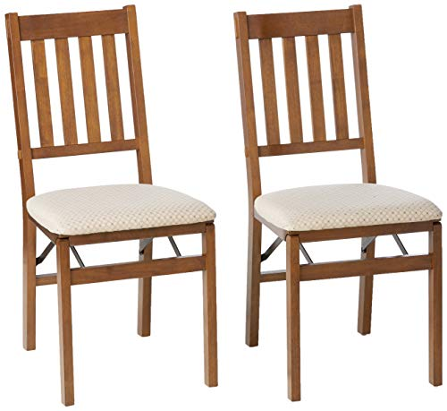 MECO STAKMORE Arts And Craft Folding Chair Fruitwood Finish, Set of 2