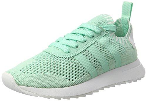 adidas Damen Flashback Primeknit Sneaker, Türkis (Easy Green/Easy Green/Footwear White), 36 EU