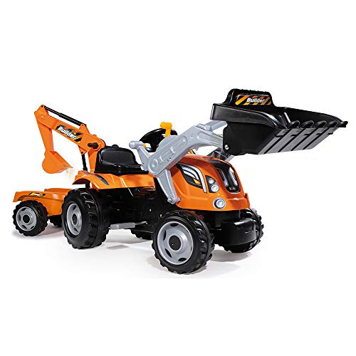 Smoby 7600710110 - Traktor Builder Max, Outdoor, Sport, orange