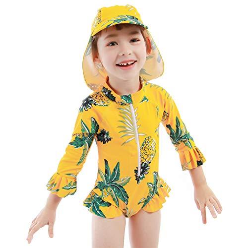 Meisjes Een Stuk Badmode Peuter Kinderen Zwemmen Kostuum Tropische Strand Hawaii Stijl Badpak 130 / For Height 125-135cm B