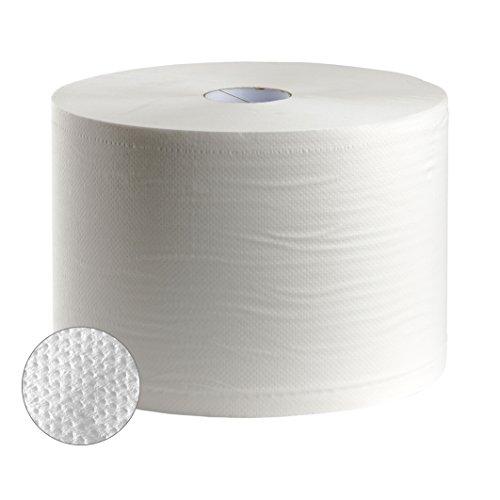 Bobina industrial gofrada 500 metros, color blanco, envase de 2 unidades