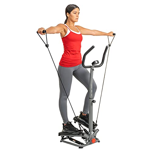 Sunny Health & Fitness Handlebar Fitness Step Machine with Resistance Bands - SF-S020065