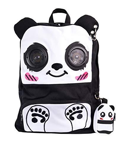Banned Panda Rucksack Mit Lautsprechern (Schwarz/Weiß)