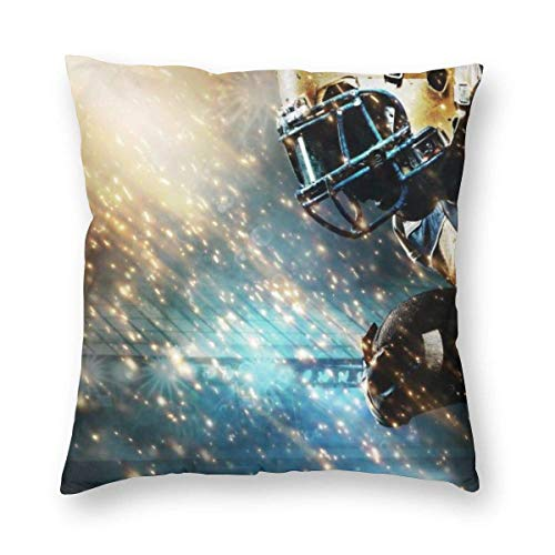 Lawenp Square Throw Pillow Covers,18'x18' Rugby Player Decorative Cushion Covers Case for Sofa Couch Home Decor