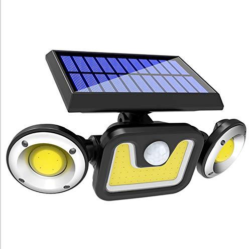 HFDJ Luz Solar al Aire Libre, luz LED, 3 Modos de Trabajo de inducción, luz Solar Impermeable IP65 inalámbrica, con luz de Sensor de Movimiento Solar Segura 15W300LM, Adecuada para Varias Ocasiones