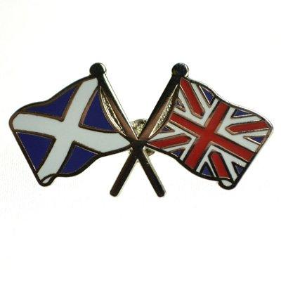 Anstecker Britische und Schottische Fahnen (Union Jack-Saltire) - Großbritannien-Schottland St. Andrews