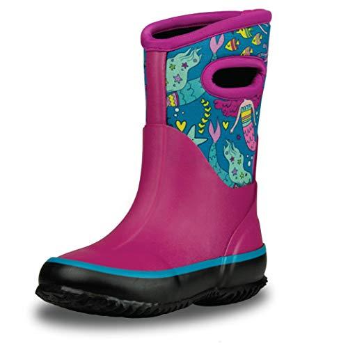 LONECONE - Botas de neopreno para nieve, lluvia y barro para todo tipo de clima, para niños y niños, Sirenas Boot-iful, 21 MX Niño pequeño