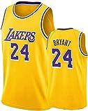 Oxyco Camisetas de fanático del Baloncesto Masculino, 4 Alex Caruso Los Angeles Lakers, Gran Material Tops de la Nueva Temporada (Yellow 24, L)