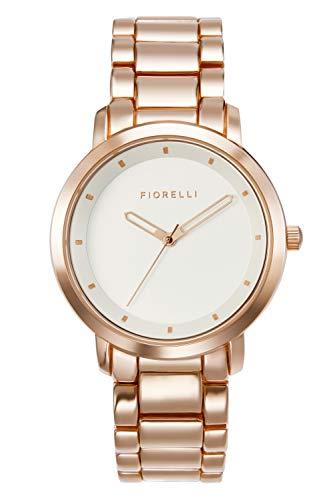 Fiorelli Damen Analog Quarz Uhr mit Aluminium Armband FO044RGM