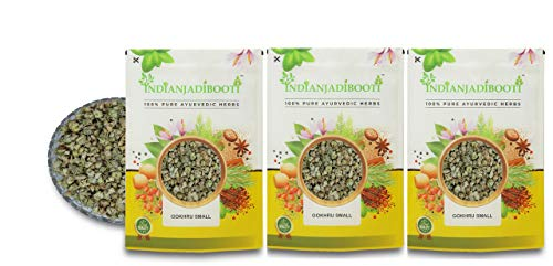 IndianJadiBooti Gokhru Small - Gokharu Chota - Tribulus terrestris, 3 Packs of 900 Grams [31.74 Oz]