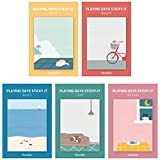 Monolike Playing Days Sticky-It - 5p Set Self-Adhesive Memo Pad 30 Sheets