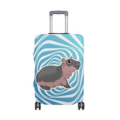 Baby Hippo Travel Lage Cover - Kofferschutz Spandex Staubschutzhüllen mit Reißverschluss, passend für XL29-32in-