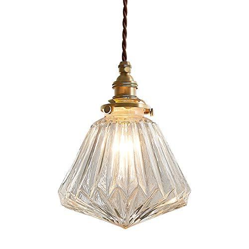 FGH Vaso Candelabro, Moderno Colgante De Luz,Estilo Retro Lámpara De Techo Sombra Industrial Lámparas Colgantes Presentando E27 Iluminación Colgante Poseedor Latón Moderno Hogar Lámpara
