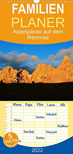 """Alpenpässe auf dem Rennrad\""""Himmlische Serpentinen\"""" - Familienplaner hoch (Wandkalender 2022, 21 cm x 45 cm, hoch)"""