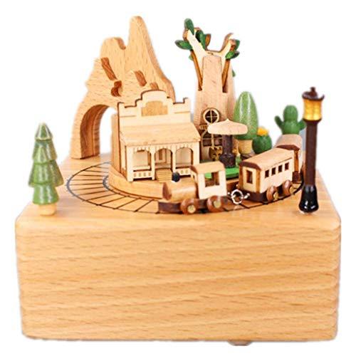 WYJBD Casa En El Árbol De La Montaña Rusa Caja De Música Caja De Música De Madera De La Artesanía Creativa Tamaño De Regalo De Madera: 11X11X13CM