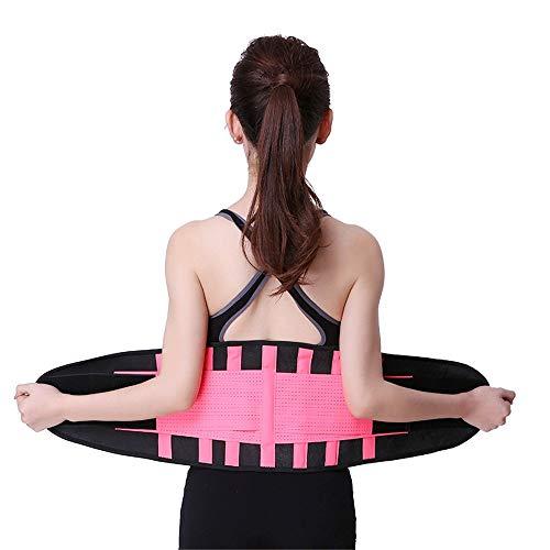 Wangxiaoxia Nierengurt Unisex verstellbare elastische Lendenwirbelstütze mit Zwei verstellbaren Trägern Atmungsaktive Mesh-Einsätze 5 Größen 6 Farben für Back Pain Relief (Color : Pink, Size : S)