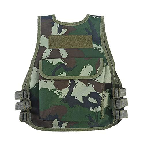 DAUERHAFT Chaleco de Camuflaje para niños Transpirable con múltiples Bolsillos, para Juegos de Caza de Combate al(Armed Police Camouflage, L)